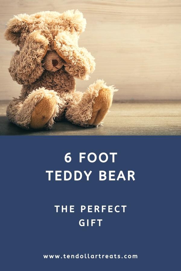 Giant 6 foot teddy bear