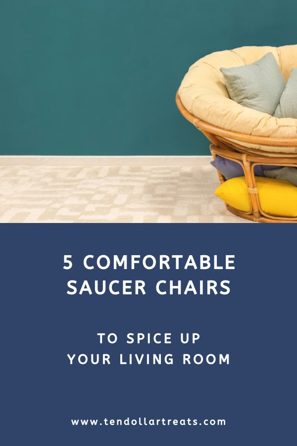 5 Comfortable folding saucer chairs