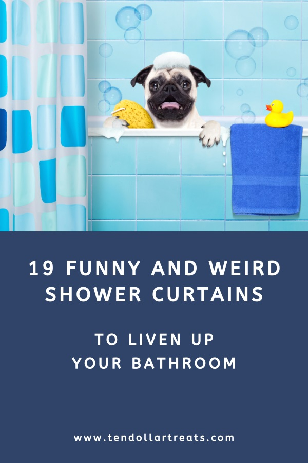19 Funny and weird shower curtains